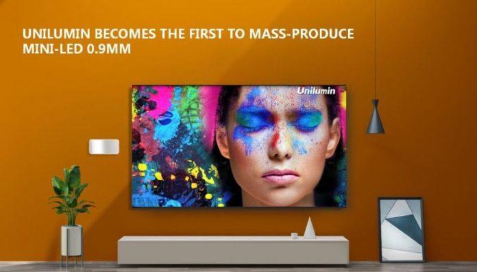 <pre>Unilumin объявляет о серийном производстве мини-светодиодов 0,9 мм и инвестирует в интеллектуальное производство для разработки микро-светодиодов