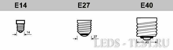 Устройство светодиодных ламп - цоколи
