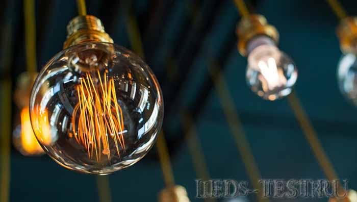 Вид и тип филаментные светодиодные лампы