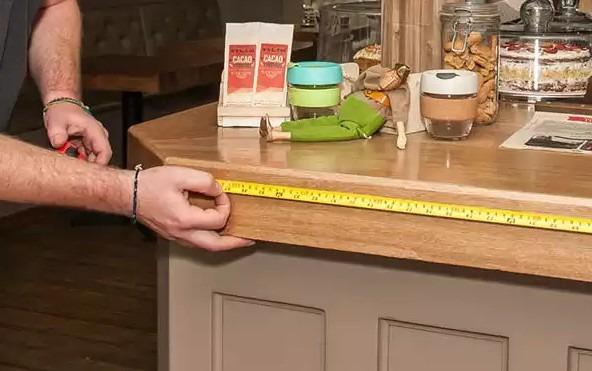 Измерение необходимого расстояния светодиодной ленты