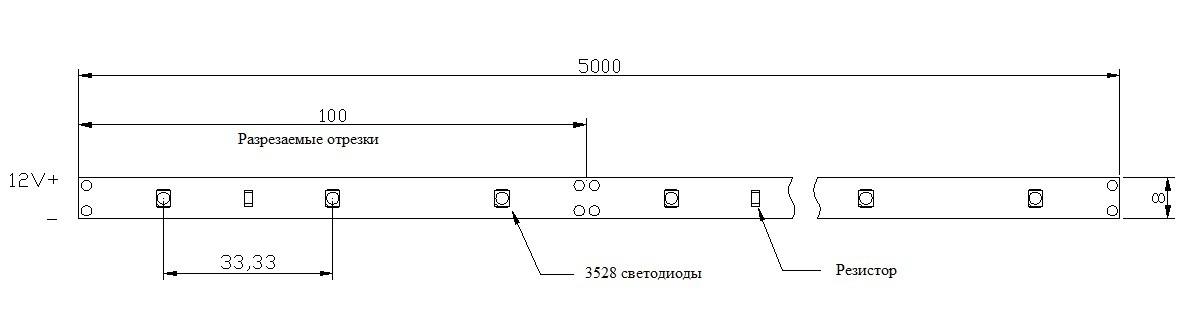 30 SMD 3528 на метр