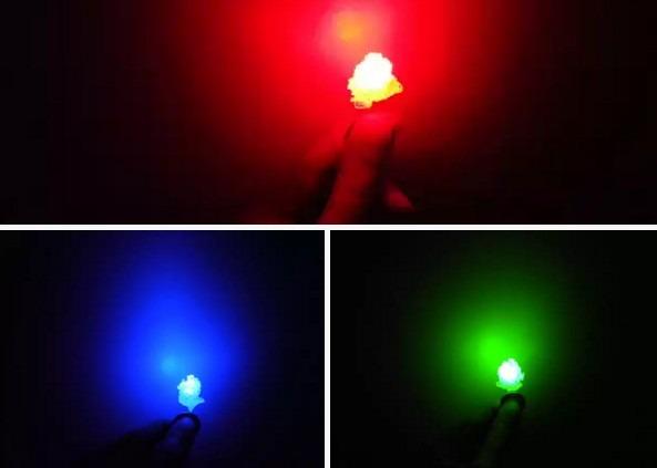 Как светят светодиоды в кристаллах