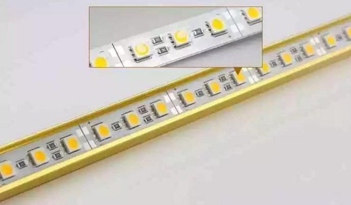 Общий вид светодиодных лент SMD 5050 на 72 диода