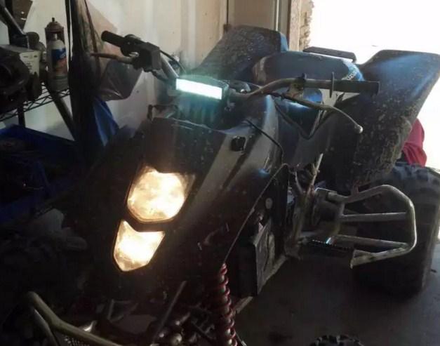 LED фара на квадроцикле