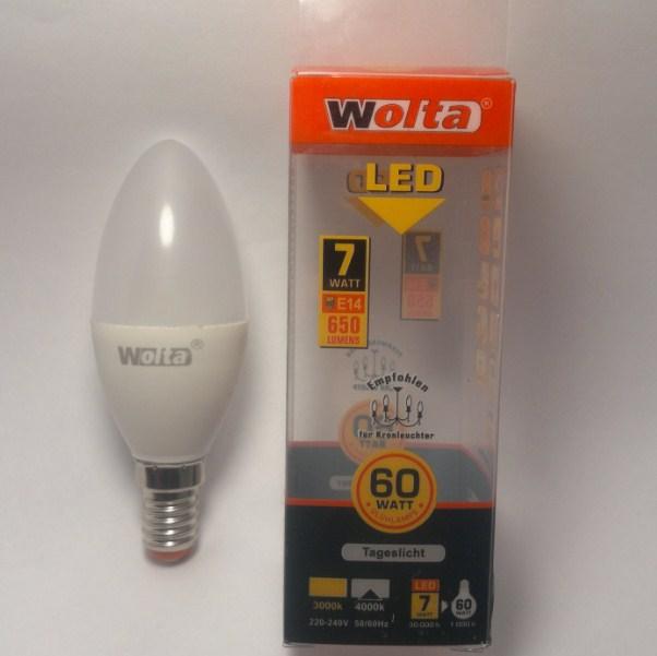 Упаковка LED лампы WOLTA