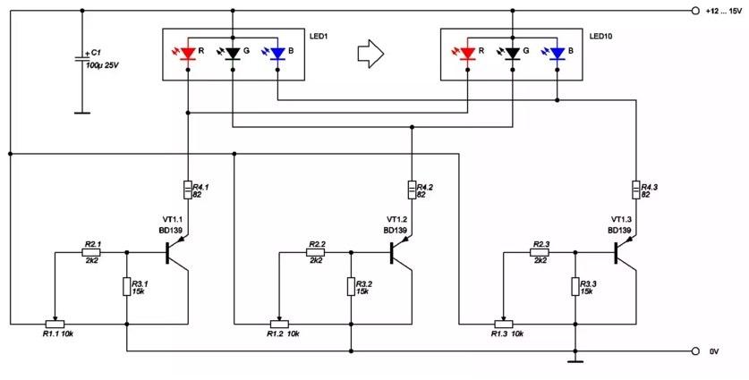 Как соединить светодиоды RGB без ШИМ