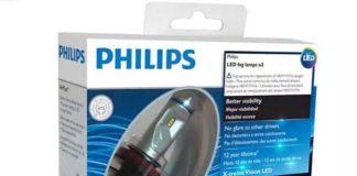 светодиодная LED fog лампа в ПТФ авто Philips X-treme Ultinon H8/H11/H16