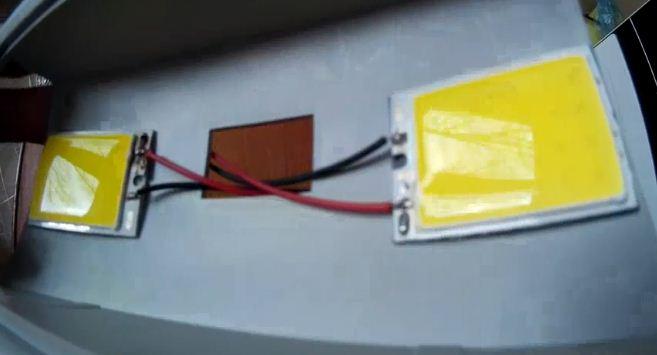 Две матрицы LED в плафоне