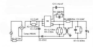 Схема светодиодной лампы LEDARE 400 Lm