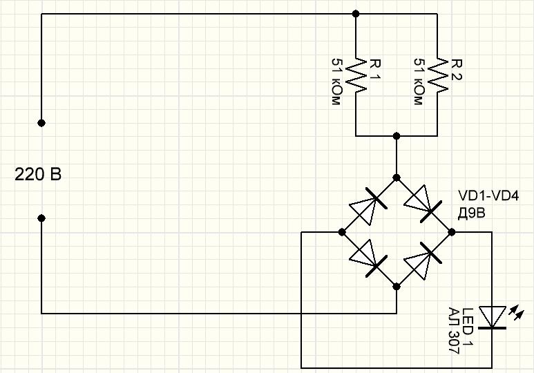 4 схема подключения диодов