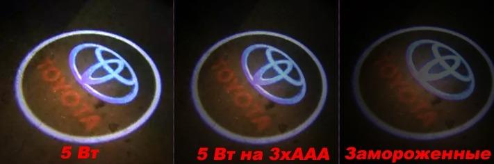 Тесты накладных проекторов логотипов в авто