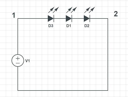 последовательное соединение LEDs драйвером