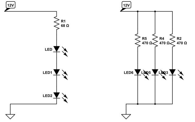 правильно подключаем светодиоды к 12 В