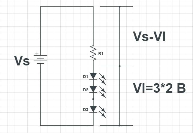 Последовательное соединение расчет резистора