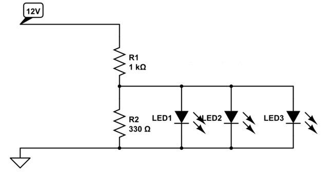 подключение светодиода к 12 В