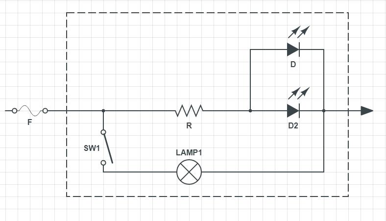 схема контрольки на светодиодах