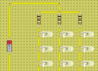 Параллельно последовательное соединение светодиодов