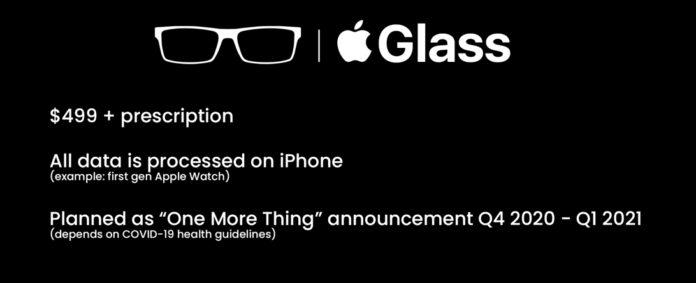 <pre>По слухам, Apple выпустит умные очки AR с сенсором LiDAR в 2021 году