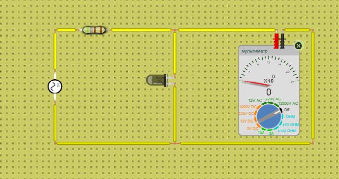 как проверить работоспособность светодиода мультиметром