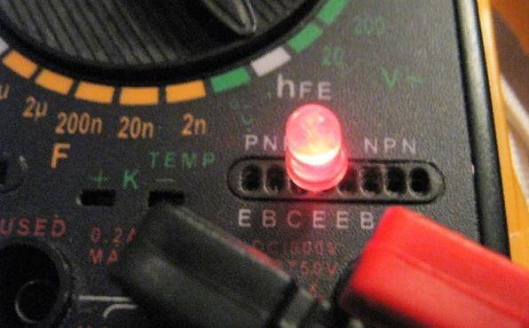 как проверить работоспособность светодиода