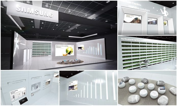 24/7 доступ к инновационным светодиодным технологиям на выставке виртуального освещения Samsung
