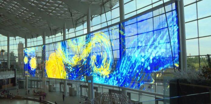 Daktronics устанавливает прозрачный светодиодный дисплей Freeform в Пекине Индиго