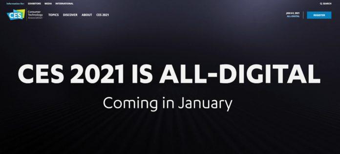 CES 2021 отменяет все физические нагрузки и выходит в онлайн