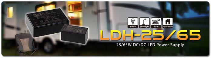 MEAN WELL запускает светодиодный блок питания LDH-25 / 65Series 25 / 65W DC / DC