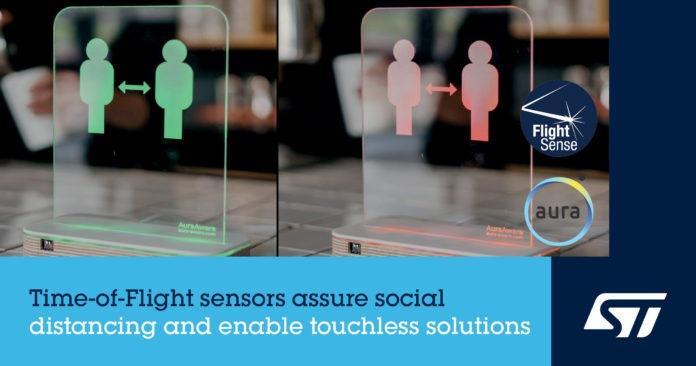 Технология ToF Sensing от STMicroelectronics позволяет создавать инновационные приложения для социального распределения
