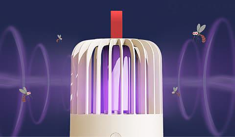 Ультрафиолетовая светодиодная встраиваемая противомоскитная лампа для привлечения насекомых