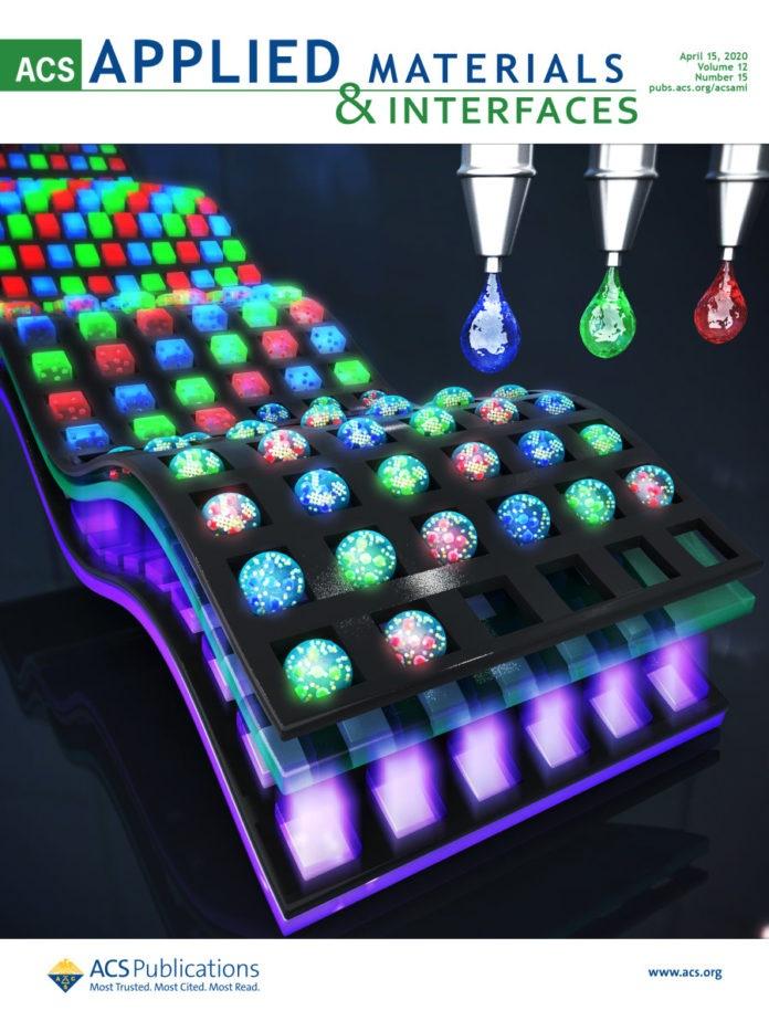 Инкапсулированный солью QD для струйной печати позволяет изготавливать светодиодные дисплеи с высоким разрешением