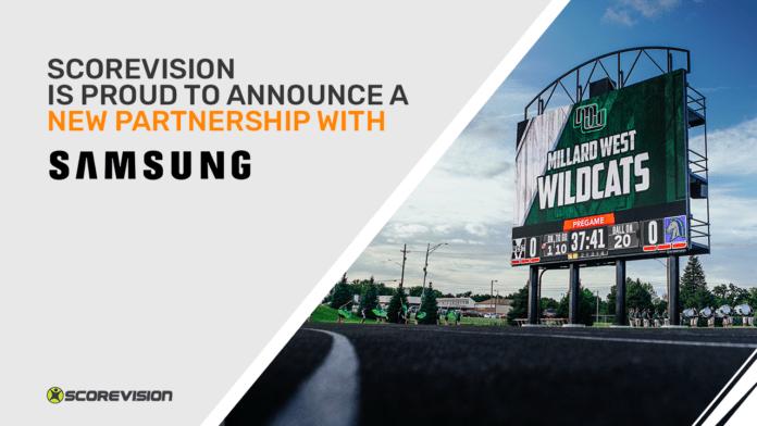 Samsung сотрудничает с ScoreVision для интеграции технологии спортивного программного обеспечения со светодиодными дисплеями и мобильными устройствами