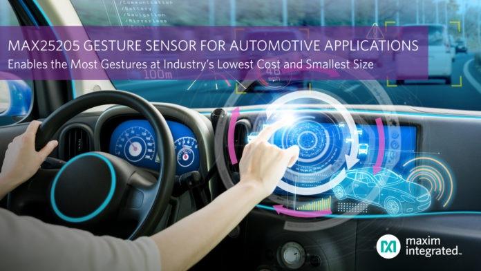 Maxim Integrated запускает датчик, позволяющий распознавать жесты для автомобильных приложений