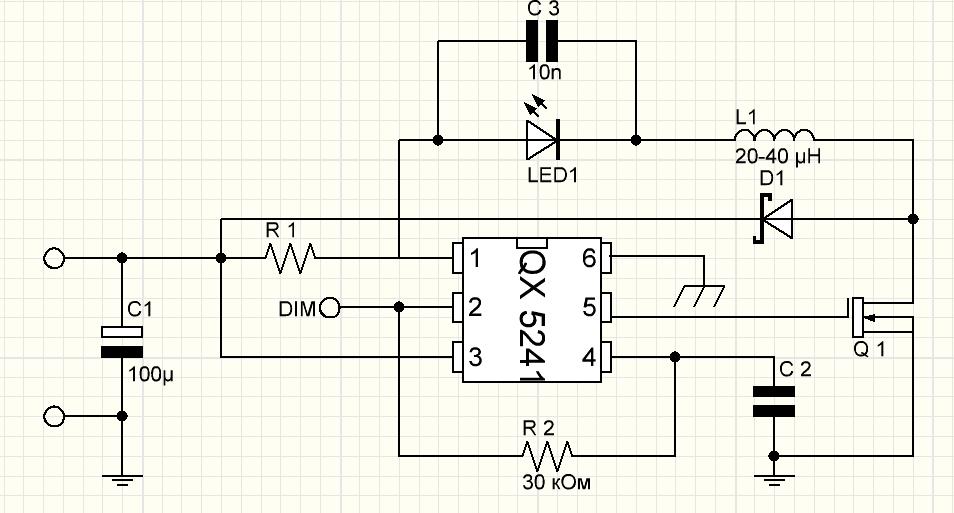 Драйвер своими руками для мощных светодиодов используя схему QX5241