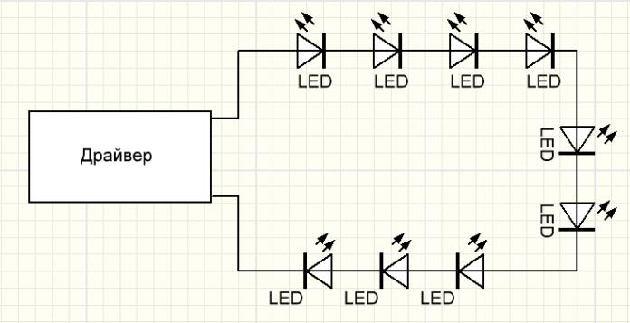 Расчет и подбор светодиодного драйвера