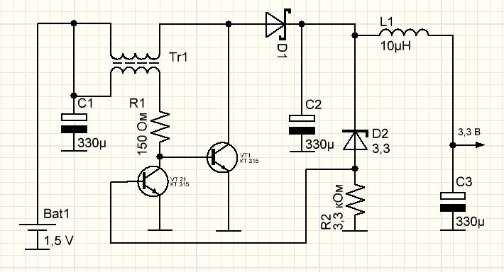 как подключить светодиод к батарейке
