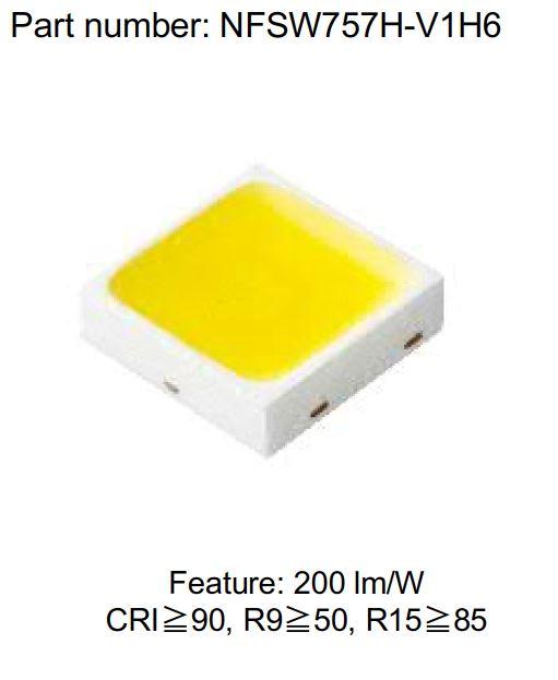 Светодиоды NICHIA с передовой люминофорной технологией обеспечивают самый высокий в отрасли общий прирост цветопередачи и эффективности