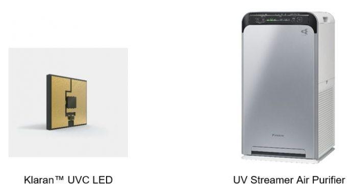 Высокоэффективные УФ-светодиоды Klaran ™ для дезинфекции используются в очистителях воздуха Daikin