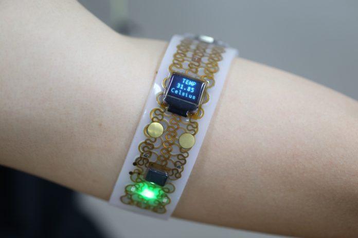 <pre>KAIST разрабатывает системы галлиевой электроники для инновационных носимых устройств