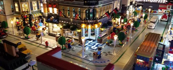 <pre>LEGO Brick City с подсветкой светодиодной подсветкой