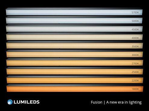 <pre>Luminles преобразует цветовую настройку белого света и обеспечивает следующий шаг в освещении, ориентированном на человека, с технологией LUXEON Fusion