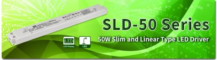 <pre>MEAN WELL выпускает светодиодный драйвер SLD-50 Series мощностью 50 Вт