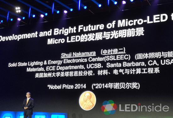 <pre>Нобелевский лауреат Шуджи Накамура поделился идеями для микро светодиодных дисплеев