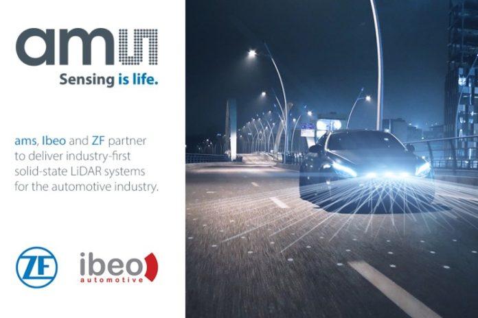 <pre>Партнеры Ams Ibeo и ZF поставляют технологию LiDAR для автономного вождения