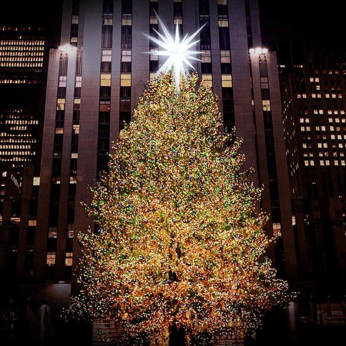 <pre>Светодиод загорается Рокфеллер-центр 2018 Рождественская елка
